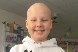Taegan Pickles, 11, has inspired the Batley community with her tireless fundraising during her cancer battle.