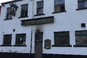 The Bulls Head, Holbeck following the fire. PIC: Rebecca Marano