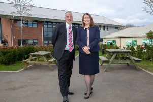 Rob Lawson, chirman of governors, and Ellen Thinnesen, chief executive, at Northumberland Colleges Kirkley Hall campus.