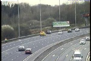 Lane reopens on M6 after stranded car is recovered. Pic: Highways England