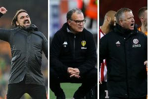 AUTOMATIC RIVALRY: Norwich boss Daniel Farke, MArcelo Bielsa and Sheffield United manager, Chris Wilder.