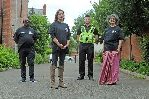 Left to right: Blacka Brown, Sarah Lloyd PC Mark Rothery, and Kauser Jan assistant headteacher at Bankside Primary School, Harehills. Picture by Tony Johnson.