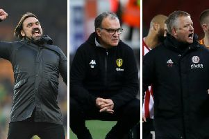 The Championship promotion battle is reaching the crunch for Norwich City boss Daniel Farke, left, Leeds United head coach Marcelo Bielsa, centre, and Sheffield United's Chris Wilder.
