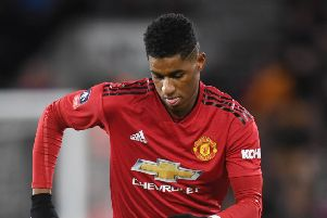 WOLVERHAMPTON, ENGLAND - MARCH 16: Marcus Rashford of Manchester United in action during the FA Cup Quarter Final match between Wolverhampton Wanderers and Manchester United at Molineux on March 16, 2019 in Wolverhampton, England. (Photo by Michael Regan/Getty Images)