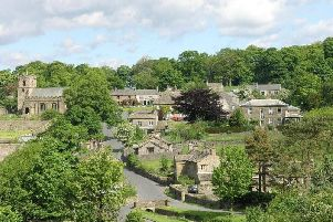 The Ribble Valley with its many villages, including Downham which is pictured here, has been named one of the happiest places to live in England.