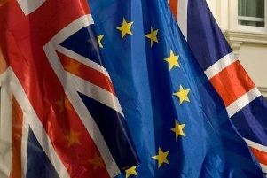 EU and UK flags together