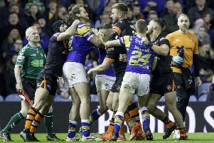HELLO AGAIN: Action from last season's clash between Leeds and Castleford in March. Picture by Allan McKenzie/SWpix.com