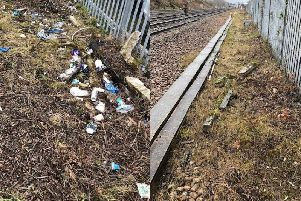 A before and after picture supplied by Network Rail.