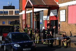 The scene  where the incident happened at Paul White greetings card factory