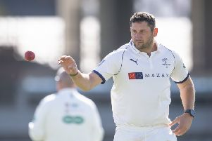 Yorkshire's Tim Bresnan is battling to be fit (Picture: SWPix.com)
