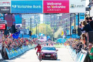 Last year's grand finale in Leeds city centre. Photo credit: Welcome to Yorkshire.