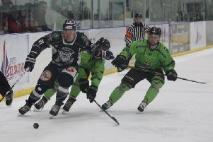Hull Pirates and Sheffield Steeldogs will lock horns once again this weekend with the North One Playoff trophy up for grabs. Picture courtesy of Steeldogs Media.