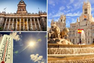 The weather in Leeds today is set to be brighter and warmer than of late, reaching temperatures as hot as those in Madrid.