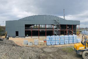 Work is continuing on the Leeds ice rink site on Elland Road with a summer opening expected. Picture courtesy of Planet Ice.