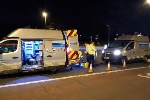 Yorkshire Water work through the night to seal burst water main off Kirkstall Road