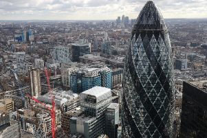 File photo dated 09/03/17 of the London skyline as seen from Tower 42 with the 'Gherkin' (foreground), 30 St Mary Axe and Canary Wharf (background) prominent. PRESS ASSOCIATION Photo