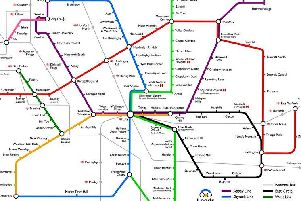 Rich Daley's tube map of Leeds.