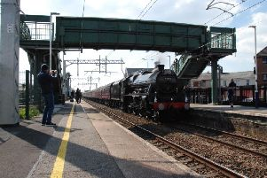The Leander at Layton station. Picture by Charles Findlay