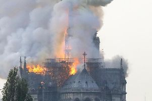 Notre-Dame Cathedral is on fire.