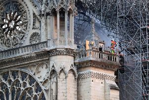 The Notre Dame Cathedral in Paris following a fire which destroyed much of the building on Monday evening (Gareth Fuller / PA Fire).