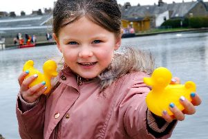 Ellie-Jayne Ramsden at last years CancerCare duck race event. Picture: Mark Harrison