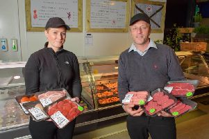 Jason and Charlotte Pritchard have added to their business portfolio with the new Merrion Centre butcher and deli shop.