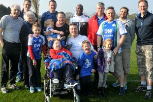 Some of the walkers before they set off on their trek