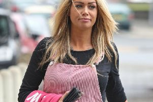 Miss Hirst arriving at court on September 21, 2017 for charges of outraging public decency.