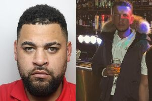 Jermaine Allen, 30 (left), had travelled from Bradford up to Newcastle for a night out in the city centre when he threw Bradley Aspin (right), then 19, down the stairs and broke his back.