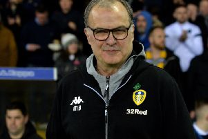 CALMING INFLUENCE: Leeds United head coach Marcelo Bielsa.