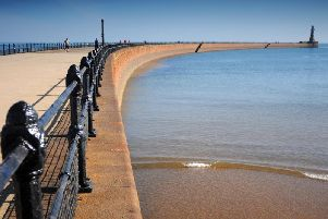 Roker Pier: It looks set to be a warm and sunny weekend in Sunderland.