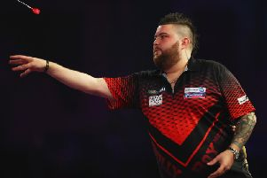 Michael Smith suffered defeat in Cardiff