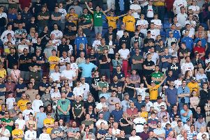 Preston supporters at Wigan