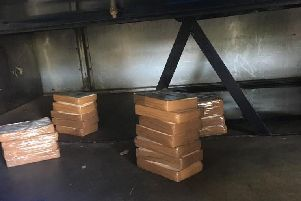 The cocaine found by officers