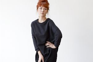 Long sweatshirt dress, �184', by Huddersfield-based fashion designer Georgia Boniface''Pictures: Shaw and Shaw