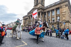 The St George's Festival parade in Morley