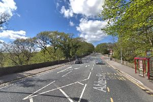Abbey Road, Hawksworth, where a brick was thrown at a moving bus injuring a woman on board.
