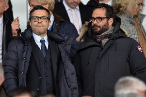 Leeds United owner Andrea Radrizzani (left) and sporting director Victor Orta (right).