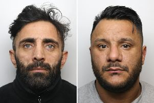 Left, Mohammed Nisar Khan, 41, and right, Tony Grant, 39, who have both been sentenced to life for the murder of Amriz Iqbal.