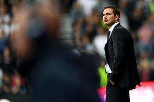 Frank Lampard and Derby County hold the advantage heading into the weekend for the final play-off spot.