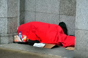 A rough sleeper in Leeds (file image)