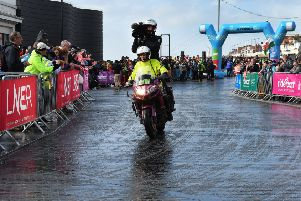 The scene in Bridlington as the Women's Tour de Yorkshire sets out for the ride to Scarborough. 'Picture Paul Atkinson.