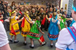 Traditional dancing, music and poetry readings took place at the Victory Day event held by the Baltica School community in Leeds on May Day. Picture by James Hardisty.