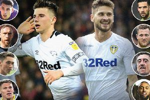 Leeds United and Derby County's key battles analysed.