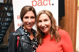 Kay Mellor and actress daughter Gaynor Faye at the Pact opening event in Leeds. Picture: Simon Wilkinson/SWpix.com.