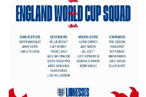 The England 2019 Women's World Cup squad.