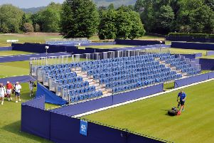 READY AND WAITING: Ilkley Tennis Club. Picture: Tony Johnson