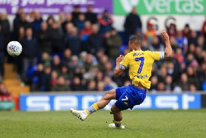 Leeds United striker Kemar Roofe missed from the spot at Ipswich Town.