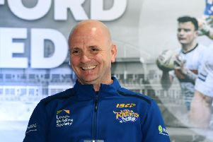 Leeds Rhinos interim head coach Richard Agar.' Picture: Jonathan Gawthorpe