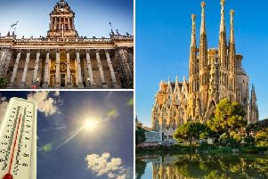 Leeds is currently basking in bright sunshine and warmer temperatures, with this week set to see the mercury rise to temperatures hotter than those in Barcelona.